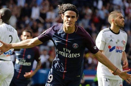 卡瓦尼传射建功,巴黎圣日耳曼2-0亚眠