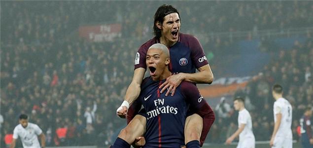 法甲:姆巴佩传射庆生卡瓦尼神龙摆尾,巴黎3-1卡昂
