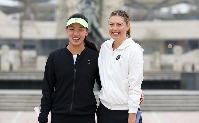 图 莎娃和中国00后新星同框 为2018深圳赛预热