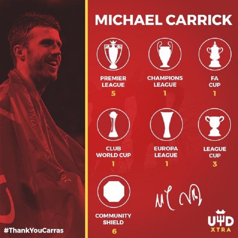 穆帅证实卡里克赛季结束退役 将加入曼联教练组