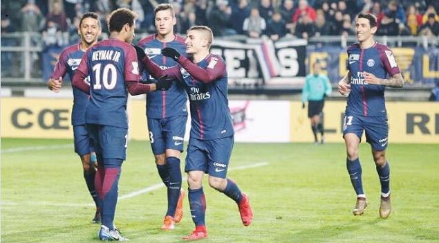 法国联赛杯:内马尔破门拉比奥建功,巴黎客场2-0亚眠