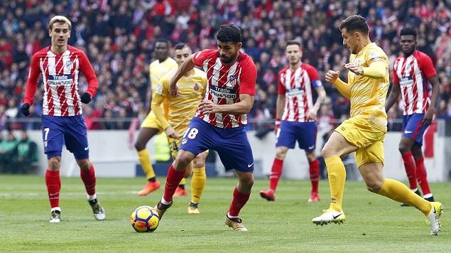 格列兹曼破门莫西卡手球疑逃点,马德里竞技1-1赫罗纳