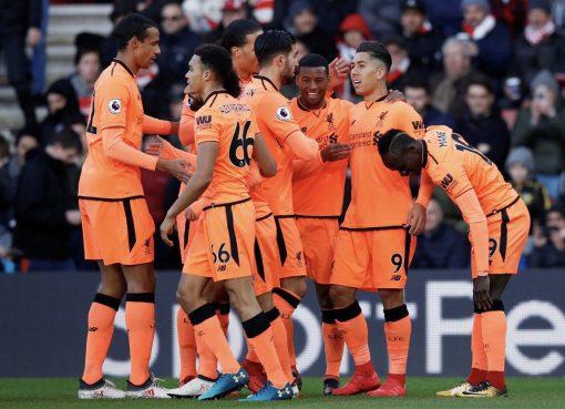 菲尔米诺萨拉赫互献传射,利物浦客场2-0南安普敦