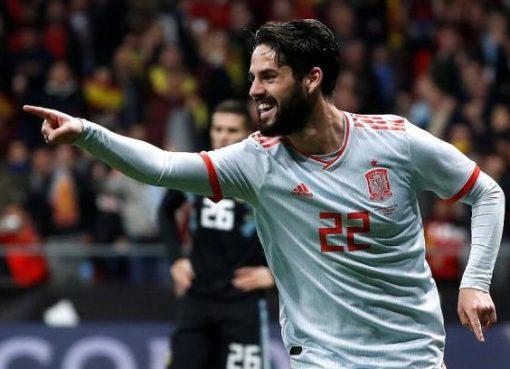 热身赛-西班牙6-1阿根廷 伊斯科戴帽科斯塔破门