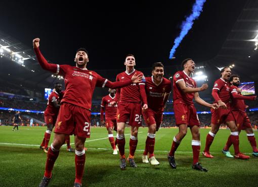 3655天,利物浦10年后再度重返欧冠四强