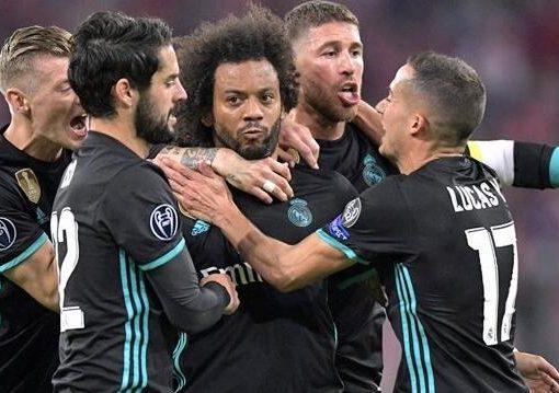 欧冠:马塞洛贴地斩阿森西奥制胜球,皇马客场2-1逆转拜仁