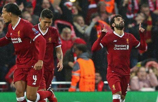 欧冠:萨拉赫菲尔米诺同献2射2传,利物浦5-2罗马
