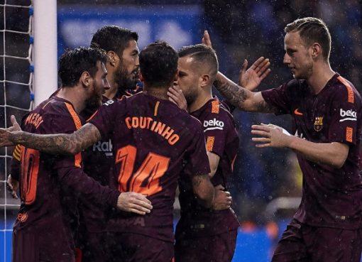 西甲-巴萨4-2夺队史第25冠 梅西上演帽子戏法