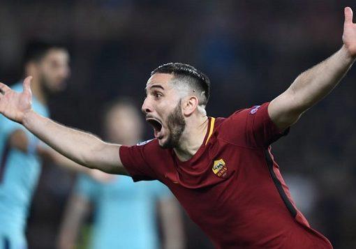 哲科破门德罗西传射,罗马3-0总比分4-4大逆转淘汰巴萨
