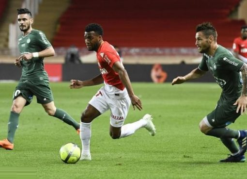 法甲-摩纳哥1-0胜圣埃蒂安 补时点杀升至次席