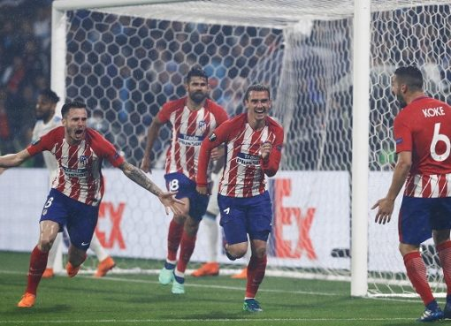 欧联:格列兹曼双响加比传射建功,马竞3-0马赛问鼎冠军