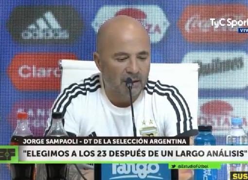 桑保利:阿根廷锋线人很多,不得不放弃一些重要的球员