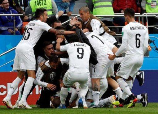 世界杯A组第1轮 埃及0-1乌拉圭