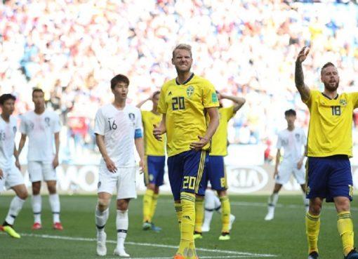 世界杯F组第1轮 瑞典1-0力擒韩国