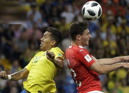 世界杯E组第1轮 巴西言和瑞士