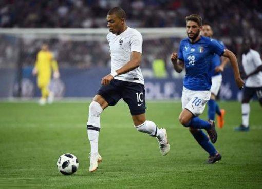 热身赛-法国3-1意大利 姆巴佩造3球登贝莱格子破门