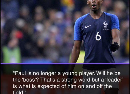 法国队长:博格巴不再年轻 需证明自己可以成领袖