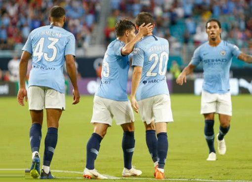 国际冠军杯-曼城3-2逆转拜仁 B席两球马赫雷斯伤退