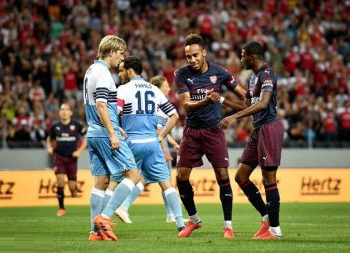 友谊赛阿森纳2-0拉齐奥 内尔森奥巴梅扬建功