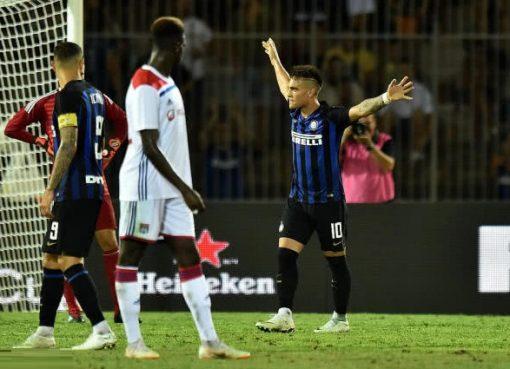 国际冠军杯国米1-0里昂 新援锋霸建功汉达献神扑