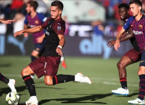 热身-米兰1-0读秒绝杀巴萨 葡萄牙锋霸第93分钟抽射破门