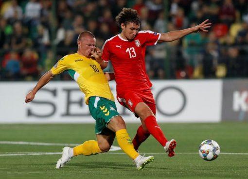 欧国联-塞尔维亚客场1-0立陶宛 塔迪奇点杀