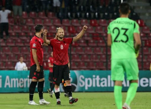欧国联-阿尔巴尼亚1-0以色列 扎卡处子球制胜