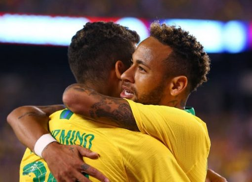热身赛-巴西2-0美国 内马尔点杀菲尔米诺破门