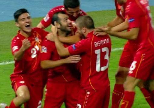 欧国联-马其顿2-0亚美尼亚 潘德夫造点+抢点破门