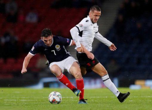 欧国联-苏格兰2-0阿尔巴尼亚 猛将破门同时制造乌龙