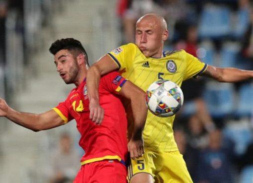 欧国联-安道尔1-1平10人哈萨克斯坦 阿莱兹单刀破门