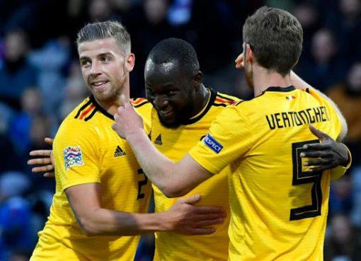 欧国联-比利时客场3-0冰岛 卢卡库2球阿扎尔建功
