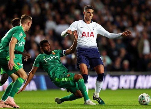 联赛杯:加扎尼加两扑点,热刺2-2沃特福德总比分6-4晋级