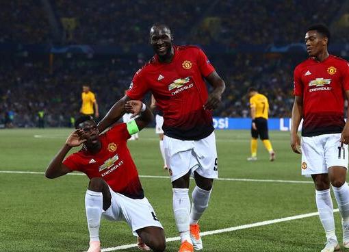 欧冠:博格巴2射1传马夏尔建功,曼联客场3-0年轻人
