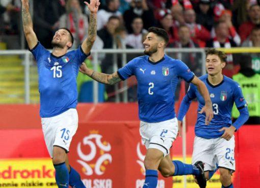 欧国联-意大利1-0绝杀送波兰降级 近1年正式比赛首胜