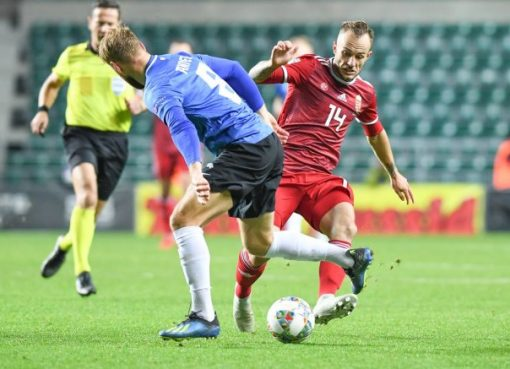 欧国联-爱沙尼亚3-3平匈牙利 绍洛伊梅开二度