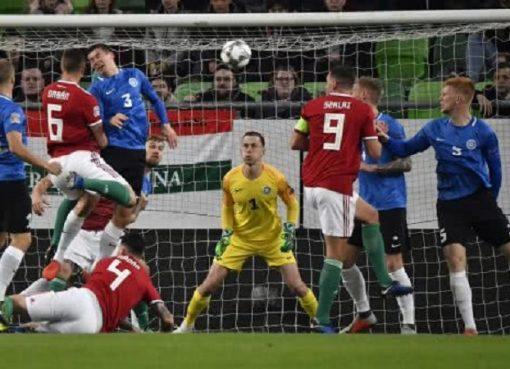 欧国联-匈牙利2-0送爱沙尼亚降级 绍洛伊破门