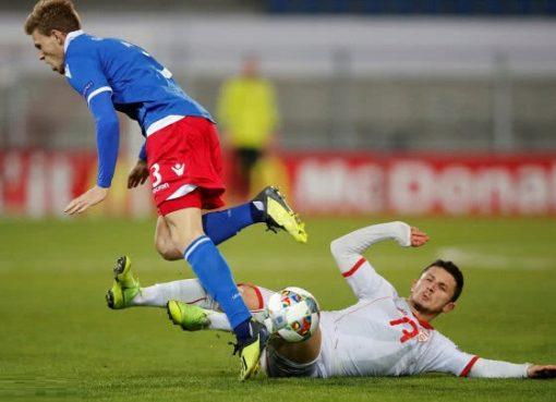 欧国联-马其顿2-0胜列支敦士登 潘德夫命中门柱
