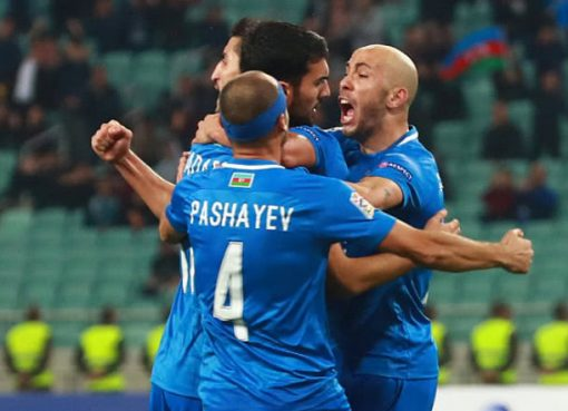 欧国联-阿塞拜疆2-0胜法罗群岛 纳扎罗夫远射建功