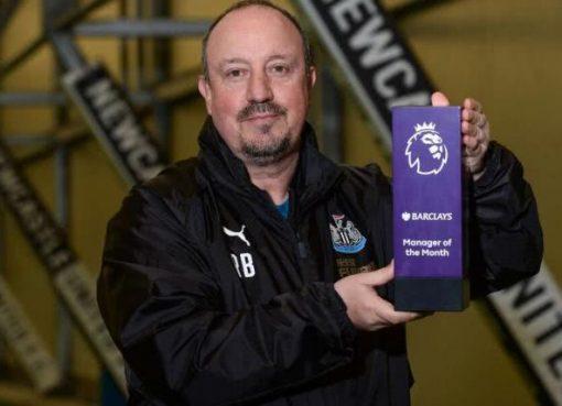 贝尼特斯当选英超11月最佳教练 3连胜帮喜鹊逃离降级区