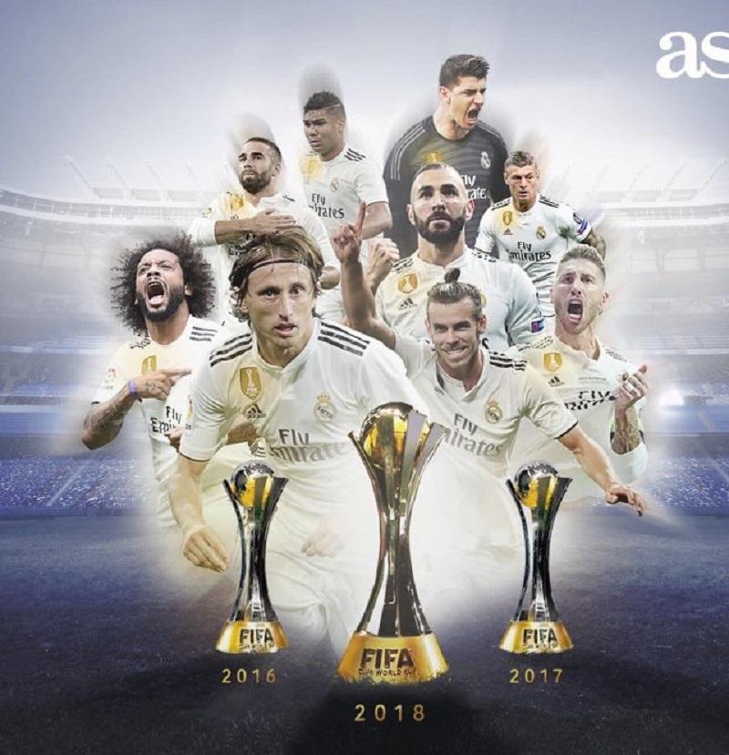 皇马第90冠追平巴萨冠军数 但他们只是世界足坛第6