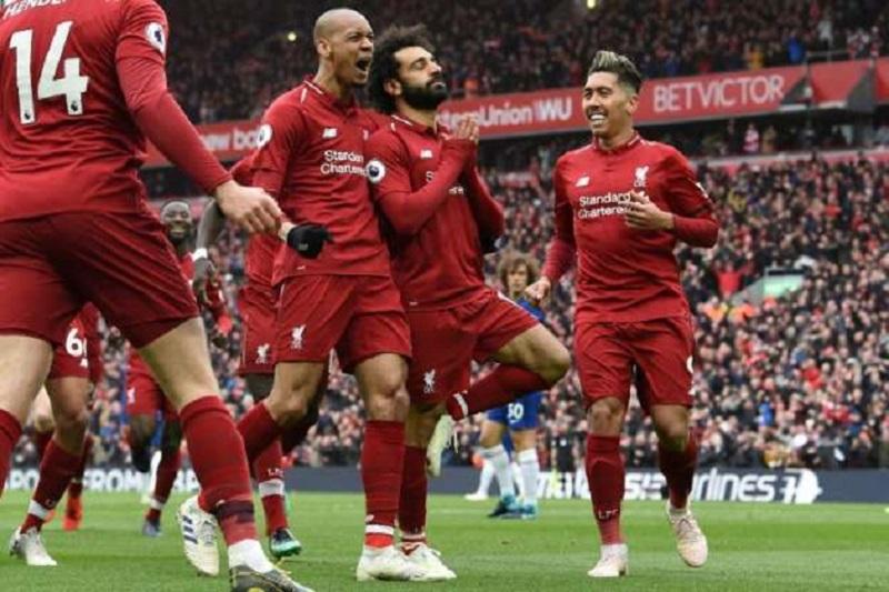 英超-利物浦2分钟2球2-0切尔西回榜首 萨拉赫超级世界波