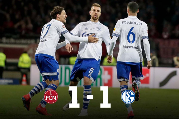 德甲第29轮 纽伦堡1-1战平沙尔克