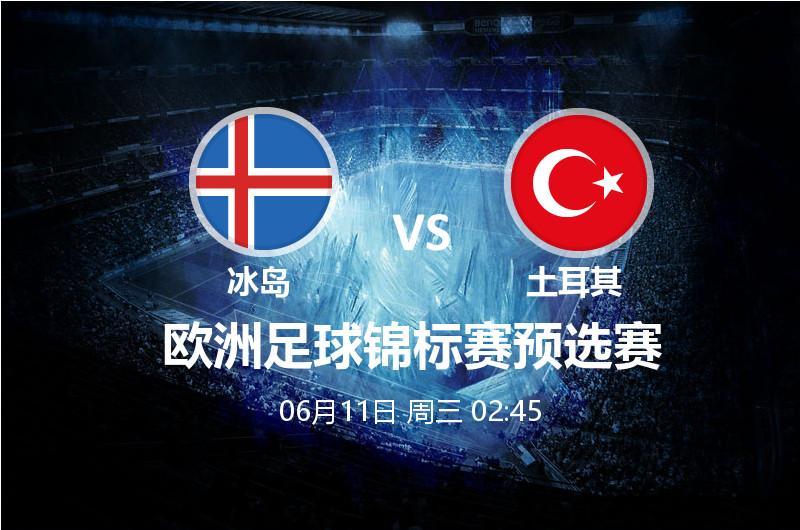6月12日 02:45 欧预赛 冰岛 VS土耳其