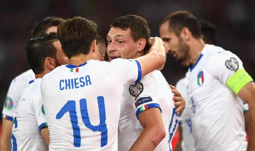 欧预赛-意大利3-0取三连胜 因西涅神仙球博努奇建功