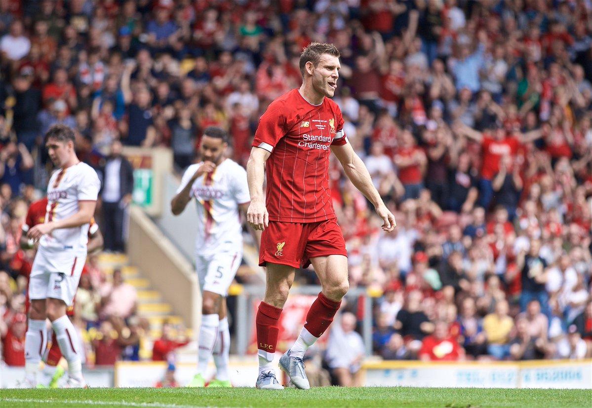 热身赛-利物浦3-1英乙队两连胜 米尔纳梅开二度