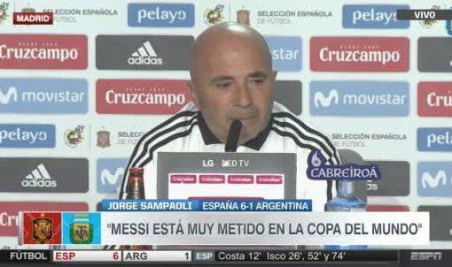 桑保利:我为今天的失利负责,西班牙给我们一记耳光