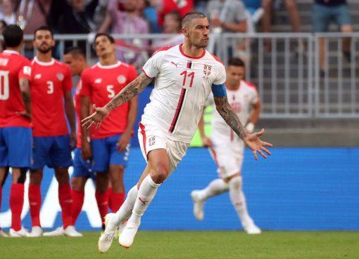 世界杯E组第1轮 哥斯达黎加0-1小负塞尔维亚