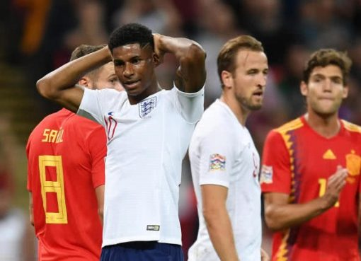 欧国联-西班牙2-1逆转英格兰 三狮军温布利14连胜终结