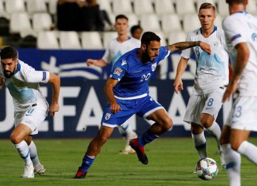 欧国联-塞浦路斯2-1斯洛文尼亚 索蒂里奥破门